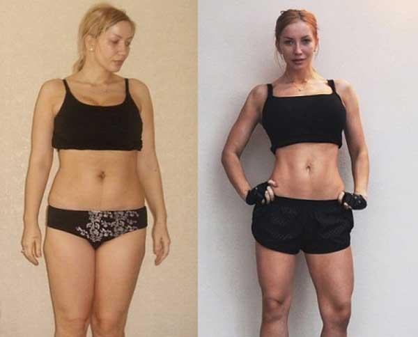 сушка тела фото до и после девушки