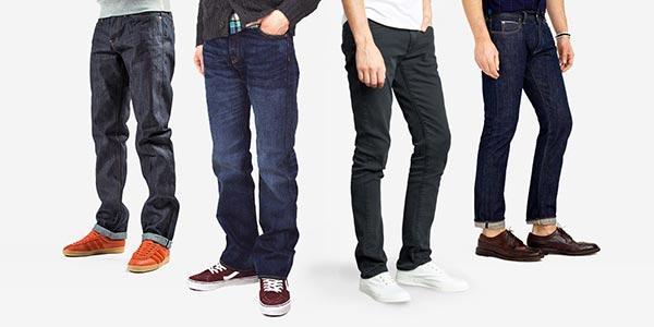 Таблицы правильных размеров мужских джинсов
