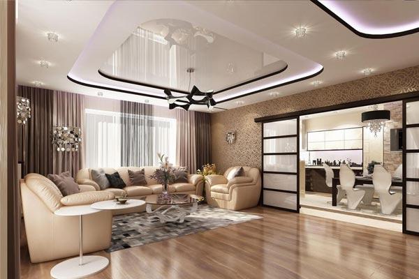 Дизайн потолков из гипсокартона 235 фото