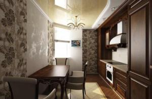 Гипсокартонный потолок на кухне