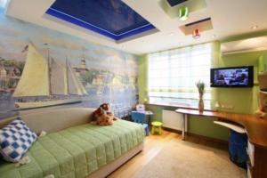 Гипсокартонный потолок в детской комнате