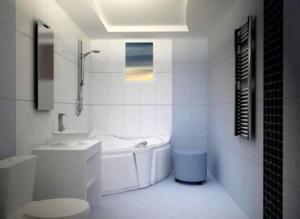 Гипсокартонный потолок в ванной комнате